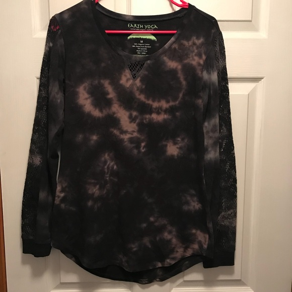 Long Sleeve Top Black Size Medium